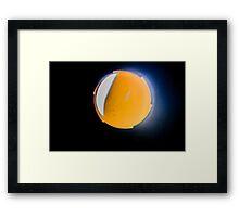 Aperture inside old Olympus Lens Framed Print