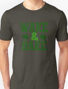 Wake And Bake Weed Stoner Funny Ganja Pot Unisex T-Shirt