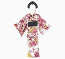 KIMONO in cherry blossom Kids Tee