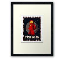 In space since 1978 RED Framed Print