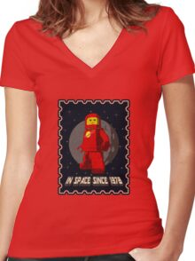 In space since 1978 RED Women's Fitted V-Neck T-Shirt