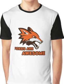 Foxes Are Awesome Cool Animal Nature Cute Fun Graphic T-Shirt