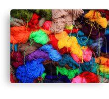 Colorful Yarn Canvas Print