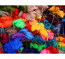 Colorful Yarn Photographic Print