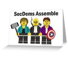 SocDems Assemble! Greeting Card