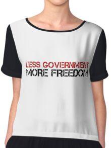 Less Government Freedom Free Speech Liberty Political Chiffon Top