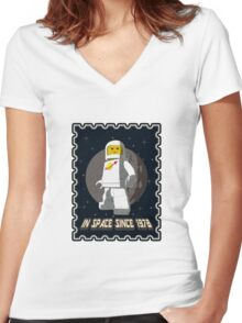 In space since 1978 WHITE Women's Fitted V-Neck T-Shirt