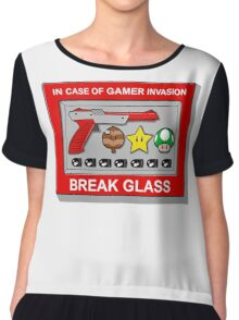 In case of Gamer Invasion Chiffon Top