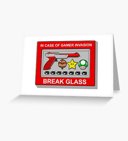 In case of Gamer Invasion Greeting Card