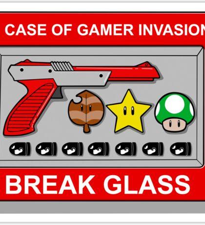 In case of Gamer Invasion Sticker