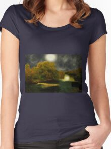 Moonlight in the Berkshires Women's Fitted Scoop T-Shirt
