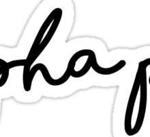 APhi Handwriting Sticker