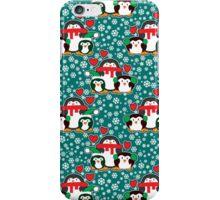 Christmas Love Penguins iPhone Case/Skin
