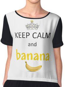 Keep Calm and Banana (Minions) Chiffon Top