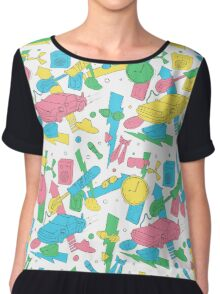 Back to the Doodles Chiffon Top