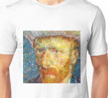 Vincent van Gogh Generative Portrait Unisex T-Shirt