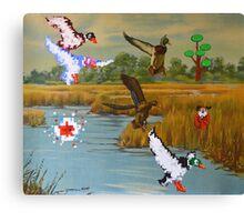 Flock of 8 bits Canvas Print