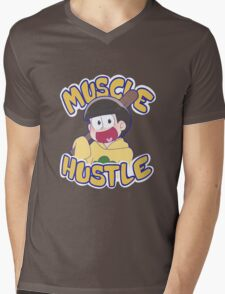 HUSTLE HUSTLE MUSCLE MUSCLE Mens V-Neck T-Shirt