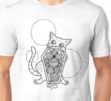 Kitty's Yarn Stash: Memento Mori Unisex T-Shirt