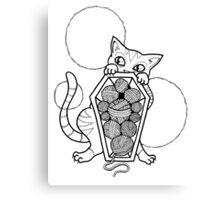 Kitty's Yarn Stash: Memento Mori Canvas Print