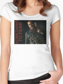 Negan Something To Fear Women's Fitted Scoop T-Shirt