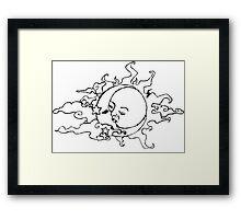 Moon & The Sun Black. Framed Print