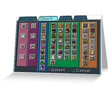 Digimon Chart Greeting Card