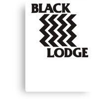 Twin Peaks Black Lodge Black Flag Parody Canvas Print