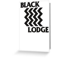 Twin Peaks Black Lodge Black Flag Parody Greeting Card