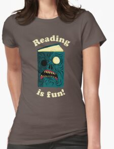 Reading is Fun Womens Fitted T-Shirt