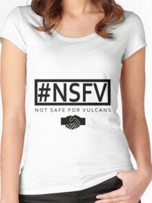 #NSFV - Not Safe For Vulcans Women's Fitted Scoop T-Shirt
