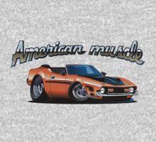 Cartoon muscle car One Piece - Short Sleeve