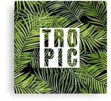 Tropical Design with Palm Tree Leaves Canvas Print