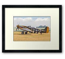 """TF-51D Mustang N251RJ 44-84847 CY-Ḏ """"Miss Velma"""" Framed Print"""