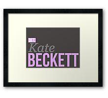 Detective Kate Beckett Framed Print