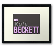 Detective Kate Beckett Framed Print