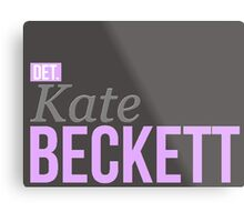 Detective Kate Beckett Metal Print