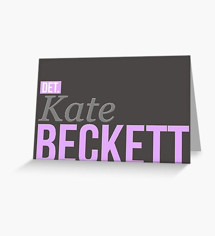 Detective Kate Beckett Greeting Card