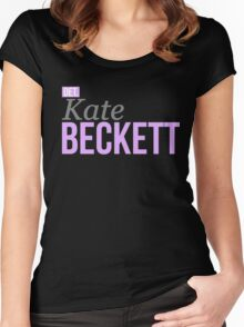 Detective Kate Beckett Women's Fitted Scoop T-Shirt
