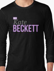Detective Kate Beckett Long Sleeve T-Shirt