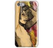 Female nude with arms up iPhone Case/Skin