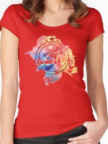 colorful ohm elephant logo Women's Fitted Scoop T-Shirt