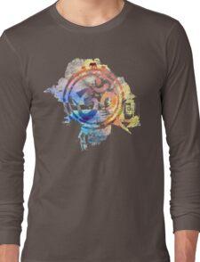 colorful ohm elephant logo Long Sleeve T-Shirt
