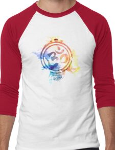colorful ohm elephant logo Men's Baseball ¾ T-Shirt
