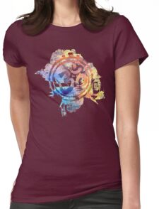 colorful ohm elephant logo Womens Fitted T-Shirt