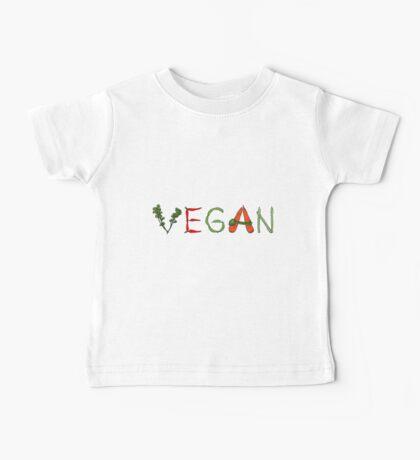 Vegan vegetables drawing color Baby Tee