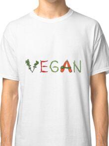 Vegan vegetables drawing color Classic T-Shirt