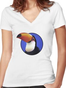 Toco Toucan Women's Fitted V-Neck T-Shirt