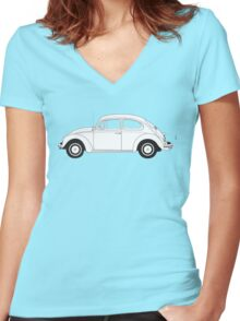 VW Volkswagen Beetle Women's Fitted V-Neck T-Shirt