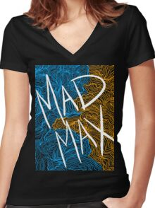 Mad Max Design (Transparent) Women's Fitted V-Neck T-Shirt